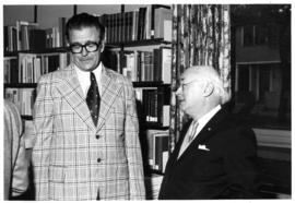 Photograph of Mr. McCleave and Dr. Henry Hicks at the Horace E. Read Memorial Lecture