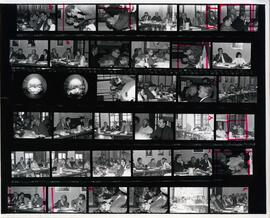 Contact sheet from a 1973 energy conference
