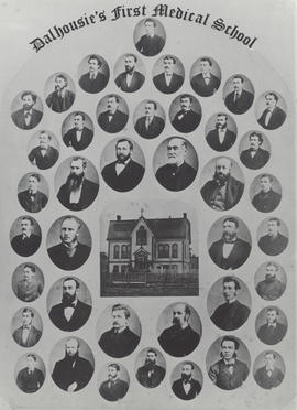 Composite photograph of Dalhousie's first medical school faculty members