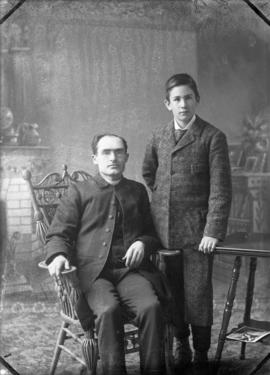 Photograph of Dr. Chisholm and son