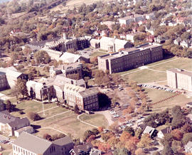 Photograph of an aerial view of Dalhousie University Studley campus