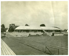 Photograph of the Dalhousie Memorial Arena under construction