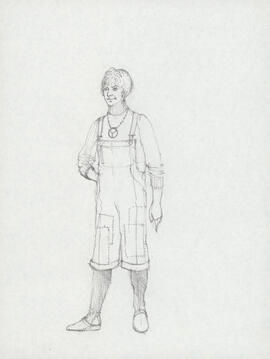 Costume design for unidentified woman