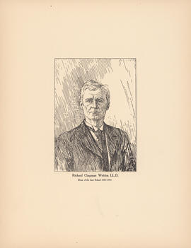 Richard Chapman Weldon, LL.D. Dean of the Law School, 1883–1914 : [print]