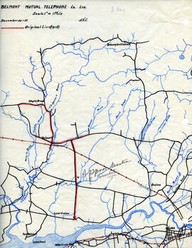 Maps of Belmont Mutual Telephone Company's telephone line