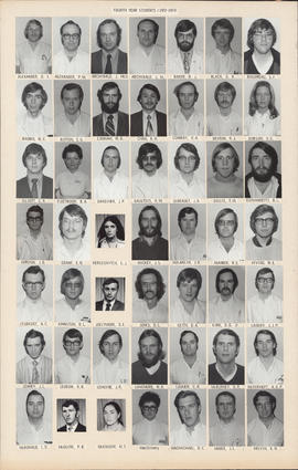 Composite photograph of the Faculty of Medicine - Fourth Year Class, 1972-1973 (Alexander to Melvin)