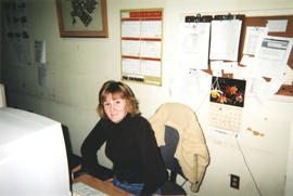 Photograph of Kellogg Library Serials Staff Member Vicky Lines