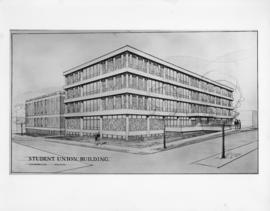 Drawing of the Student Union Building