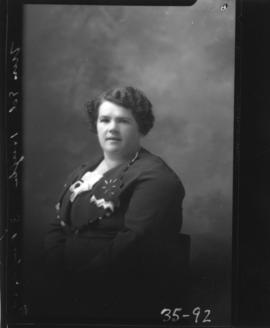 Photograph of Mrs. Ed Hughes