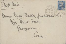 Envelope  from William Somerset Maugham to Ellen Ballon, Ryan Gustafson, and Sally Ryan
