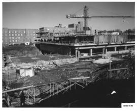 Photograph of the south west view of the Killam Memorial Library construction