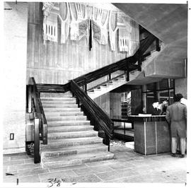 Photograph of the main stair case in the Killam Memorial Library