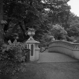 Photograph of Fitzgerald bridge in the Halifax Public Gardens