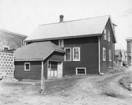 Photograph of the exterior of the back of the central office of the Prince Edward Island Telephon...