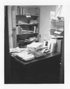 Photograph of the Librarian's office in the Medical-Dental Library