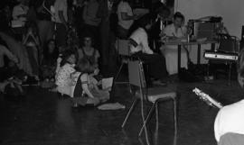 Photograph of children at a CBC radio broadcast at the Dalhousie Arts Centre