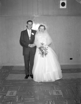 Photograph of Mr. & Mrs. Wright at their wedding