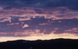 Photograph of a sunrise in Frobisher Bay, Northwest Territories