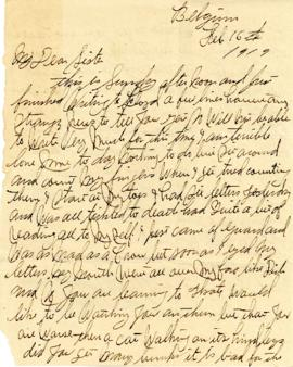 Letter from Weldon Morash to his sister Gertrude dated 16 February 1919