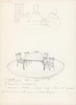Sketch of cafeteria : Act I, scene II