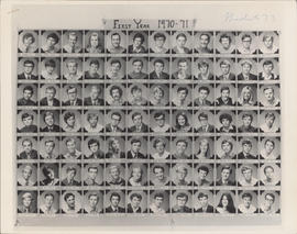 Photograph of Faculty of Law first year class of 1970-71