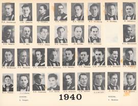 Composite photograph of the Faculty of Medicine - Class of 1940