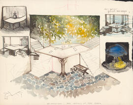 Set design for The Taming of the Shrew
