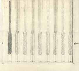 Drawing of the shaft of the Dalhousie University mace