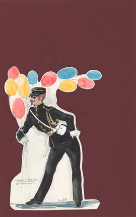 Costume design for three policemen