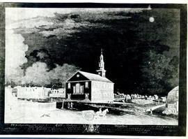 Photographic print of a negative of the Church of Saint Paul in Halifax, Nova Scotia