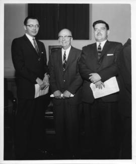 Photograph of Horace Read with two unidentified men