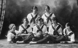 Photograph of Dalhousie girls' basketball team
