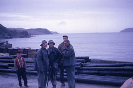 Photograph of men standing on the wharf in Twillingate, Newfoundland and Labrador