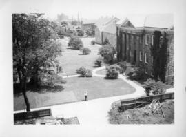 Photograph taken from a building overlooking Studley campus
