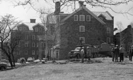Photograph of the construction at Shirreff Hall