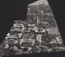 Aerial photograph of Dalhousie University Campus