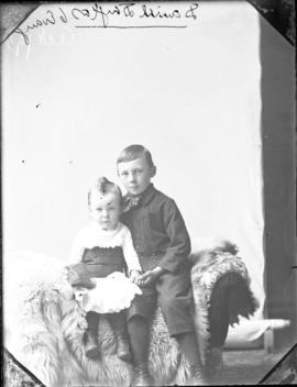 Photograph of Daniel Douglas and his younger sister