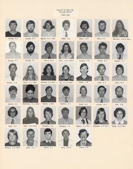 Composite photograph of the Faculty of Medicine - Third Year Class, 1972-1973 (McLeod to Zilbert)