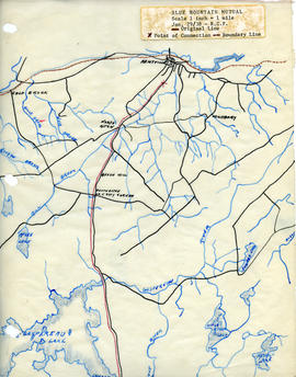 Maps of Blue Mountain Mutual Telephone Company's telephone line