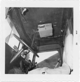 Photograph of the interior of a snowplow at Hunter River in Prince Edward Island