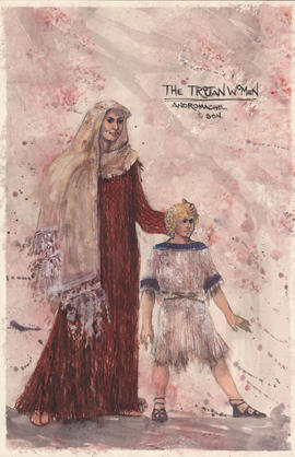 Costume design for Andromache and son
