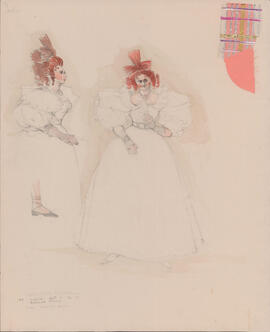 Costume design for Mary : Act I, scene II