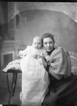 Photograph of Mrs. Arch McColl and baby