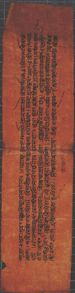 Tibetan (?) manuscript with Chinese insert
