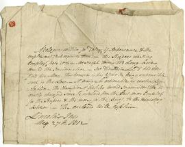 Two letters to James Dinwiddie from Robert Blain