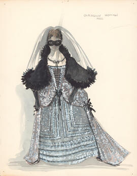 Costume design for unknown woman