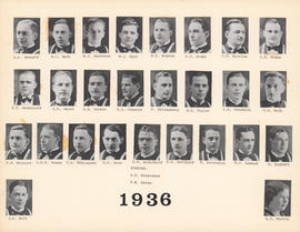 Composite Photograph of the Faculty of Medicine - Class of 1936