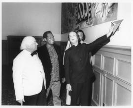 Photograph of the mural presentation at Howe Hall