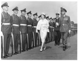 Photograph of Queen Elizabeth II Inspecting the Troops at the Charlottetown Waterfront during the...