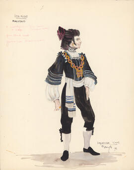 Costume design for Malvolio